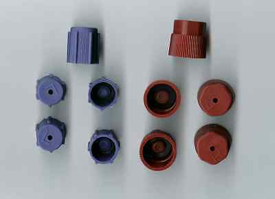 AC Charging Port Service Caps R134a 13mm & 16mm LOT of 10 Pieces RED & BLUE A/C