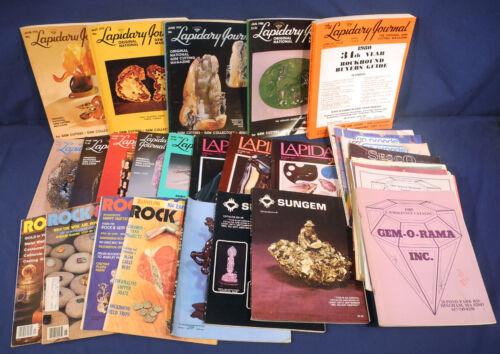 Lapidary Journal Rock + Gem Magazine Sungem Catalog +Lot Jewelry Artist Gemology