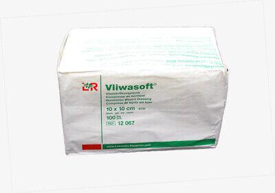 VLIWASOFT Vlieskompressen 10 x 10 cm unsteril 6l. 100 Stück - Mhd 03/2024