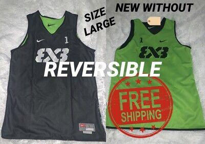 Rare! #1 Green Nike FIBA Team 3x3 Reversible AR0651-013 Basketball Jersey Large