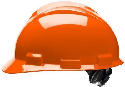 Bullard Cap Style Hard Hat With 4 Point Ratchet Suspension Orange
