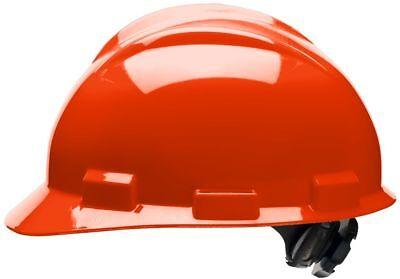 Bullard Cap Style Hard Hat with 4 Point Ratchet Suspension, Hi-Vis Orange
