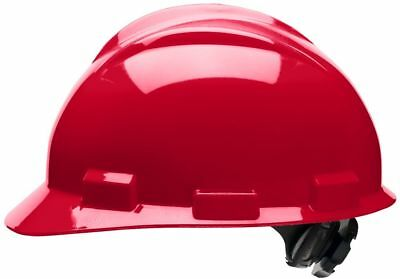 Bullard Cap Style Hard Hat with 4 Point Ratchet Suspension, Red