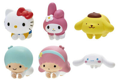 Bandai Sanrio Characters Figure Cable Accessories Hugcot set of 6 Hello Kitty (Kitty Accessories)