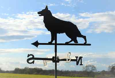 Standard German Shepherd Metal Weathervane (Post Fixing Bracket)