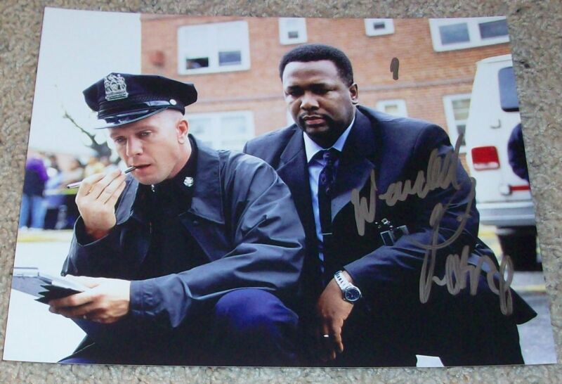 WENDELL PIERCE SIGNED AUTOGRAPH BUNK THE WIRE 8x10 PHOTO C w/EXACT PROOF