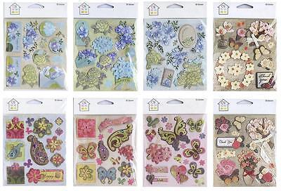 Crafts House 3D Layered Stickers + Glitter/Gold Foil Card Making/SCrapbooking - Gold Glitter Scrapbooking