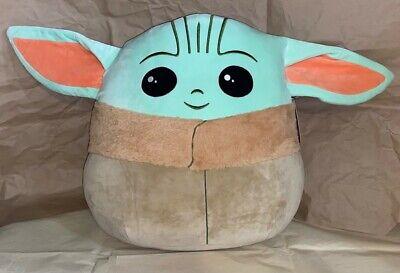 "SQUISHMALLOWS STAR WARS Mandalorian The Child Baby YODA Stuffed Toy Plush 20"" XL"