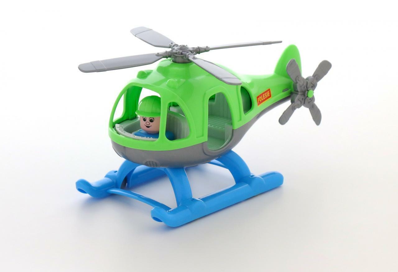 Wader Polesie Polizei Hubschrauber Helikopter Kinder Spielzeug Heli 67654