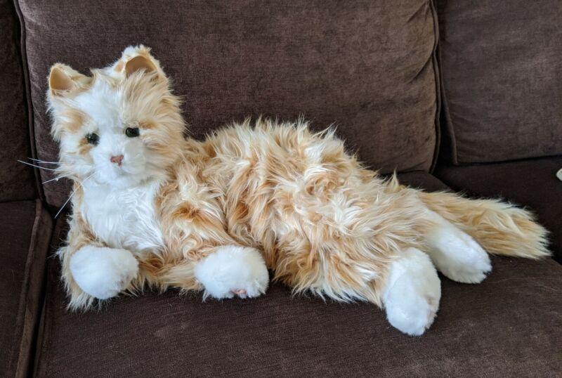 Hasbro Joy For All Companion Cat Orange Tabby