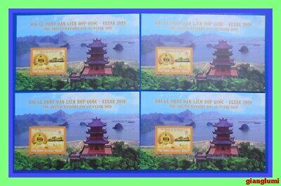 Vietnam Imperf S/S The United Nations Day of Vesak 2019 - Lot of 4 MNH