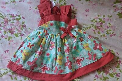 Lot Baby girl outfits 6-9 months 1 Dress, 3 short & 1 onisie.