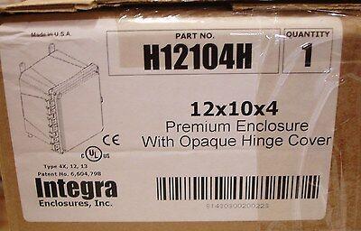 New Integra Enclosure Junction Box Hinged Cover Ul 12x10x4 Inch Deep Non Metalic