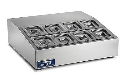 Arctic Air Acp8sq 27.5 Refrigerated Compact 8 Pan Counter-top Prep Unit