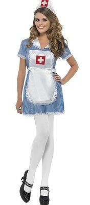 Ladies Sexy Naughty Nurse Hen Do Fancy Dress Costume Outfit UK 8-22 Plus Size](Plus Size Nurse Outfit)