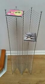 Chrome CD stand holds 210 CDs