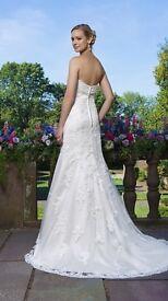 2016 sincerity 3871 Bernice Ivory sand wedding dress 12