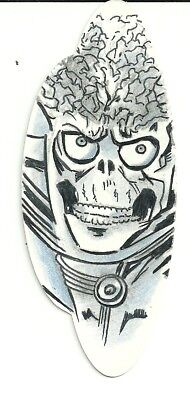 2017 Topps Mars Attacks The Revenge ! Die-Cut Shaped Sketch by Todd Aaron Smith
