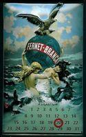 Fernet - Branca Calendario Letrero De Metal Calendar Metal Tin Sign 20 X 30 Cm -  - ebay.es