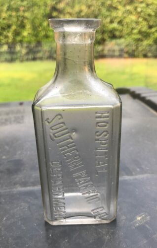 SOUTHERN PACIFIC CO. HOSPITAL DEPARTMENT DUG IN CALIFORNIA DRUG BOTTLE RARE