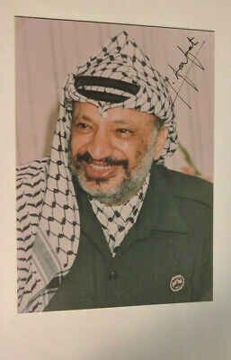 "YASSER ARAFAT Authentic Original Signed Photograph 5""x7"" Photo (Palestinian)"