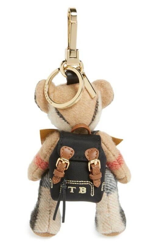 BURBERRY Thomas Bear Charm BAG Key chain PURSE  Rucksack CASHMERE 100% NEW RARE
