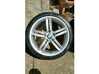 "BMW 18"" M Sport Alloy wheels Genuine"