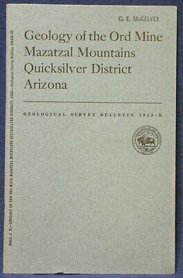 USGS ORD MINE, MAZATZAL MOUNTAINS ARIZONA Vintage 1958 Pristine!! With ALL MAPS!