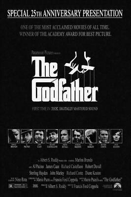 The Godfather Movie Poster Marlon Brando, Al Pacino NEW