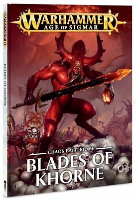 Warhammer Age of Sigmar BATTLETOME BLADES OF KHORNE Bloodbound Chaos Daemons NEW
