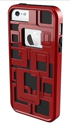 QMADIX CUBE 3D HARD CASE FOR iPHONE 5/5S - Red NIP! MSRP: $24.99