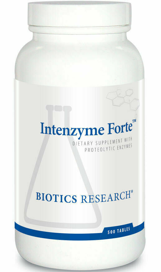 Biotics Research Intenzyme Forte 500 Tablets 12/2022