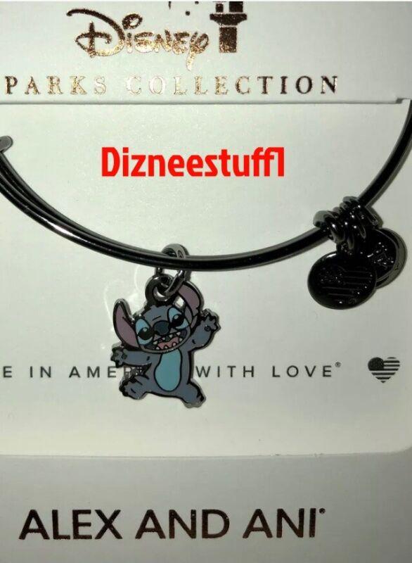 Disney Parks Alex & Ani bracelet Stitch Experiment 626 - black bangle (NEW)