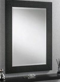 Luxury black Britannia mirror