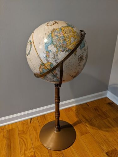 ".: LeRoy M. Tilman, REPLOGLE World Classic Series 16"" GLOBE - Floor Stand Model"