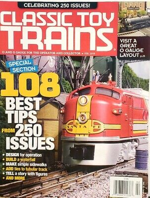 Classic Toy Trains Feb 2019 108 Best Tips O Gauge Layout FREE SHIPPING