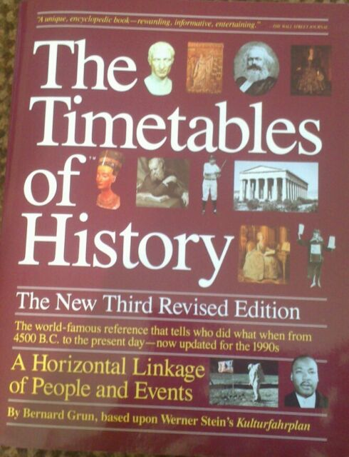 The Timetables of History: A Horizontal Linkage of People and Events by Grun...