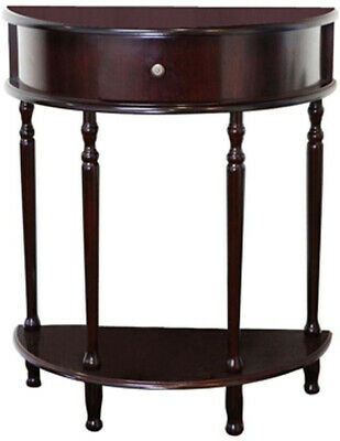 End Table Cherry Storage Living Room Half Round Tables Moon Drawer Shelf Design Cherry Living Room End Table