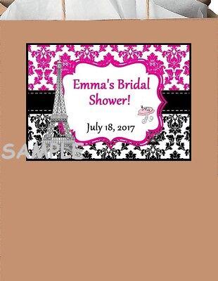 18 Party stickers,Birthday,label,paris,shower,wedding,favors,supply,eiffel tower