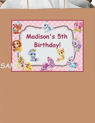 18 Personalized Princess Palace Pets Party stickers,birthday,labels,supplies, - Palace Pets Birthday Party