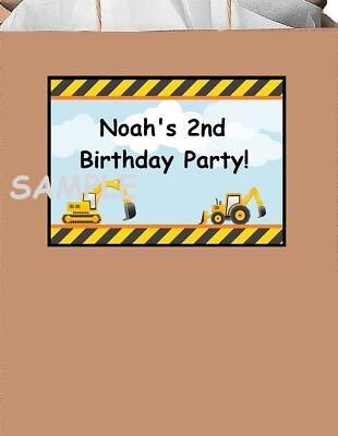 18 Personalized Construction trucks party - Construction Party Favors