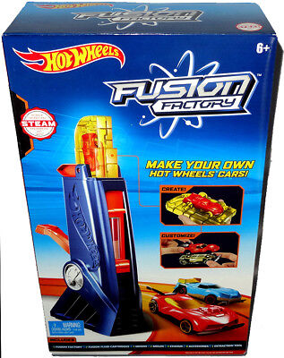 Hot Wheels Fusion Factory Car Maker Set Playset Mib Mattel Design Your Own Car