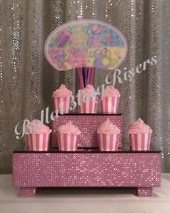 Pink Bling Set of 2 Cake Stand Risers Fairfield Heights Fairfield Area Preview