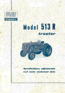 Fiat Tractor 513r Service Manual 71 page on CD Maclagan Toowoomba Surrounds Preview