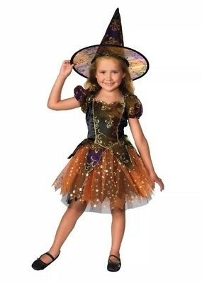 Rubie's Official Elegant Witch Dress for Toddlers Halloween Size UK 1-2 Years