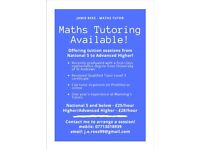 Maths Tuition Available!