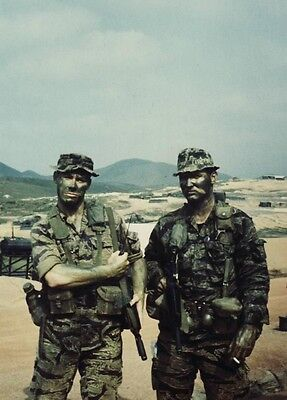 Vietnam War U.S. Army 75th Rangers Readying For Night Patrol 8.5x11 Rare Photo