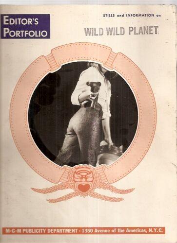 Wild Wild Planet : Original 1965 Movie Press Kit Complete with movie Stills