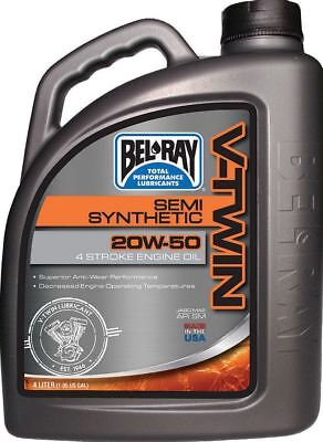 Bel-Ray 20W-50 V-Twin Semi-Synthetic Engine Oil 4 Liter 96910-BT4