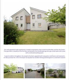 Studio flat FOR SALE ⭐️ Inverness rental holiday let ⭐️ 3K UNDER VALUE 82 blarmore ave